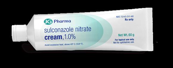 Tube of prescription sulconazole nitrate cream.